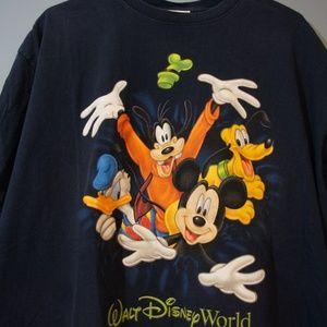 VTG Disney World Tee Double Sided Mickey Goofy